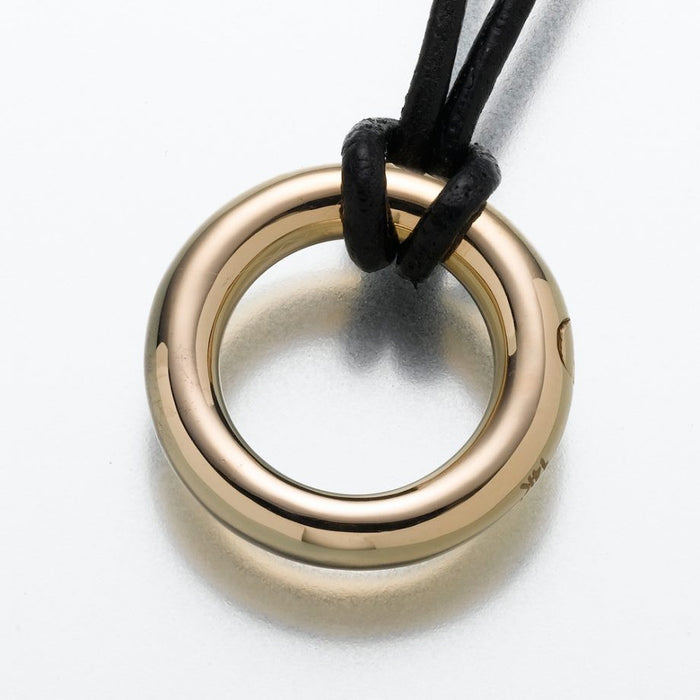 "Eternity Pendant Cremation Jewelry-Jewelry-Madelyn Co-14K Yellow Gold-Free 24"" Black Satin Cord-Afterlife Essentials"