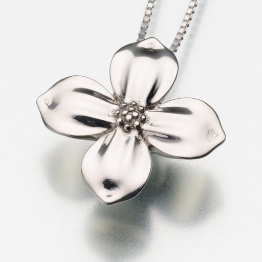 "Blossom Pendant Cremation Jewelry-Jewelry-Madelyn Co-Sterling Silver-Free 24"" Black Satin Cord-Afterlife Essentials"