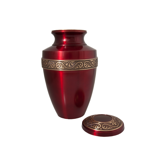 Scarlet Brass Series 60 cu in Cremation Urn-Cremation Urns-New Memorials-Afterlife Essentials