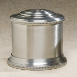 Columnade Spun Pewter 214 cu in Cremation Urn-Cremation Urns-Infinity Urns-Afterlife Essentials