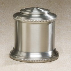 Columnade Spun Pewter Medium 80 cu in Cremation Urn-Cremation Urns-Infinity Urns-Afterlife Essentials