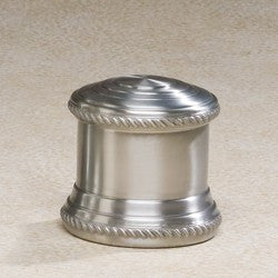 Columnade Spun Pewter Small 17.5 cu in Cremation Urn-Cremation Urns-Infinity Urns-Afterlife Essentials