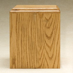 Contempo Oak Wood 212 cu in Cremation Urn-Cremation Urns-Infinity Urns-Afterlife Essentials