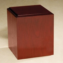 Contempo with Satin Finish Cherry Wood 212 cu in Cremation Urn-Cremation Urns-Infinity Urns-Afterlife Essentials