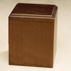 Contempo with Satin Finish Walnut Wood 212 cu in Cremation Urn-Cremation Urns-Infinity Urns-Afterlife Essentials