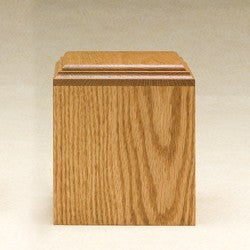 Contempo with Satin Finish Oak Wood Medium 60 cu in Cremation Urn-Cremation Urns-Infinity Urns-Afterlife Essentials