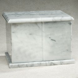 Rectangle Evermore White Marble 420 cu in Cremation Urn-Cremation Urns-Infinity Urns-Afterlife Essentials