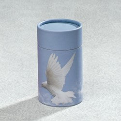 Scattering Tube Series Dove 20 cu in Cremation Urn-Cremation Urns-Infinity Urns-Afterlife Essentials