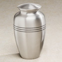 Aegean Series Silver-Tone 209 cu in Cremation Urn-Cremation Urns-Infinity Urns-Afterlife Essentials