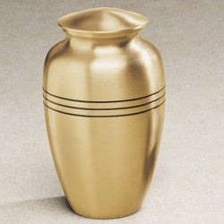 Aegean Series Gold-Tone 209 cu in Cremation Urn-Cremation Urns-Infinity Urns-Afterlife Essentials