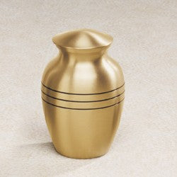 Aegean Series Goldtone 43 cu in Cremation Urn-Cremation Urns-Infinity Urns-Afterlife Essentials