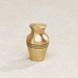 Aegean Series Gold-Tone 5 cu in Cremation Urn Keepsake-Cremation Urns-Infinity Urns-Afterlife Essentials