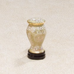 Cloiselle Series Brass Morning Mist 5 cu in Cremation Urn-Cremation Urns-Infinity Urns-Afterlife Essentials