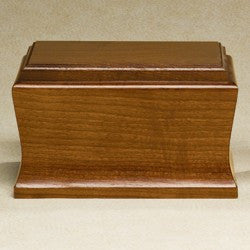 Cambridge Solid Mahogany Wood 200 cu in Cremation Urn-Cremation Urns-Infinity Urns-Afterlife Essentials