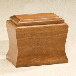 Cambridge Solid Cherry Wood with Satin Finish Medium 95 cu in Cremation Urn-Cremation Urns-Infinity Urns-Afterlife Essentials
