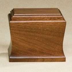 Cambridge Solid Mahogany Wood Medium 95 cu in Cremation Urn-Cremation Urns-Infinity Urns-Afterlife Essentials