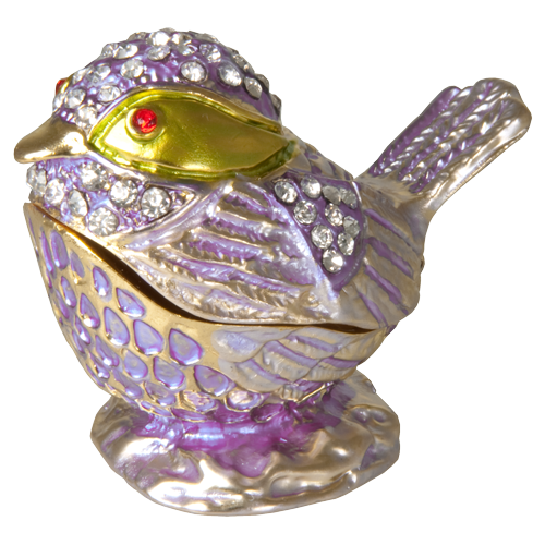 Lavender Bird Urn Keepsake - Afterlife Essentials