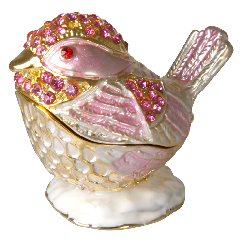 Shades Of Pink Bird Urn Keepsake - Afterlife Essentials