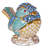 Bird Sky Blue and Gold Mini Figurine Cremation Urn Keepsake-Cremation Urns-Afterlife Essentials-Afterlife Essentials