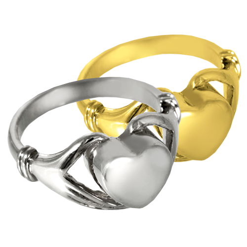 Heart Ring Pet Cremation Jewelry-Jewelry-New Memorials-Gold-Plated (14K Over Sterling Silver)-5-Afterlife Essentials