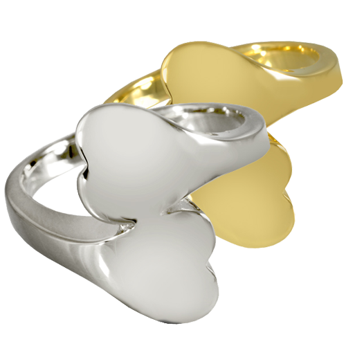 Double Chamber Heart Ring Urn Cremation Jewelry-Jewelry-New Memorials-Afterlife Essentials