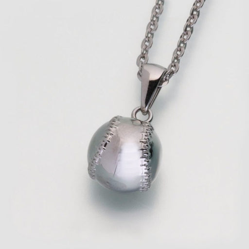 Stainless Steel Baseball with chain Cremation Jewelry Afterlife Essentials