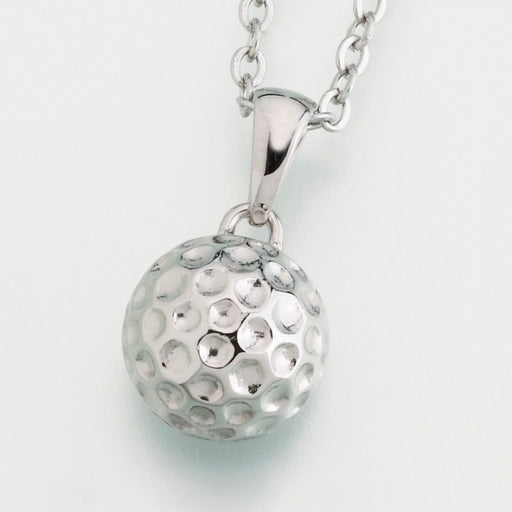 Stainless Steel Golf ball with chain Cremation Jewelry-Jewelry-Afterlife Essentials-Stainless Steel-Afterlife Essentials