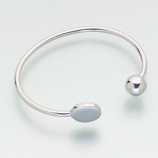 Bangle Bracelet Cremation Jewelry-Jewelry-Madelyn Co-Sterling Silver-Afterlife Essentials