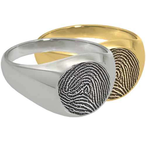 Elegant Round Ring Fingerprint Memorial Jewelry-Jewelry-New Memorials-Afterlife Essentials