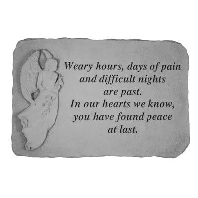 Weary hours… Memorial Gift-Memorial Stone-Kay Berry-Afterlife Essentials