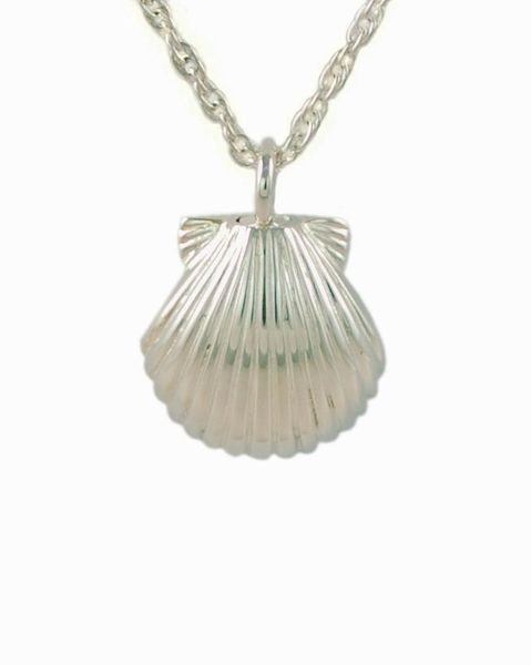 Sterling Silver Seashell Cremation Jewelry-Jewelry-Cremation Keepsakes-Afterlife Essentials