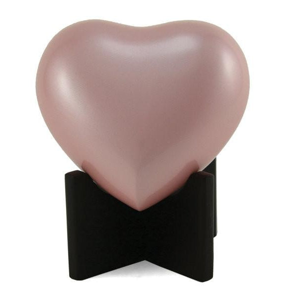 Arielle Heart Pearl Pink Cremation Urn-Cremation Urns-Terrybear-Afterlife Essentials