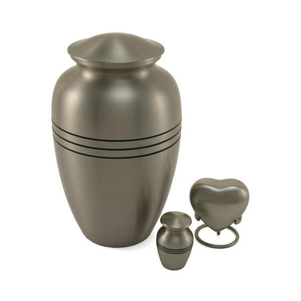 Classic Pewter Large/Adult Cremation Urn-Cremation Urns-Terrybear-Afterlife Essentials