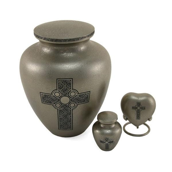 Celtic Cross 6 Keepsake Set with velvet box Cremation Urn-Cremation Urns-Terrybear-Afterlife Essentials