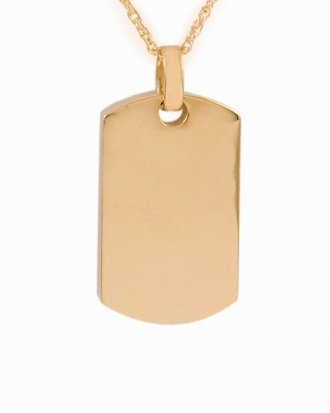 Gold Plated Dog Tag Cremation Jewelry-Jewelry-Cremation Keepsakes-Afterlife Essentials