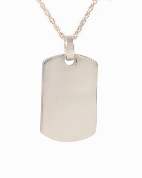 Sterling Silver Dog Tag Cremation Jewelry-Jewelry-Cremation Keepsakes-Afterlife Essentials