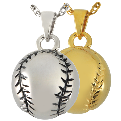 Baseball Pendant Cremation Jewelry-Jewelry-New Memorials-Afterlife Essentials