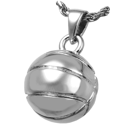 Basketball Pendant Cremation Jewelry-Jewelry-New Memorials-Sterling Silver-Afterlife Essentials