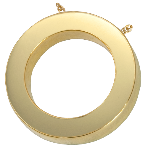 Slide Flat Circle Pendant Cremation Jewelry-Jewelry-New Memorials-Afterlife Essentials