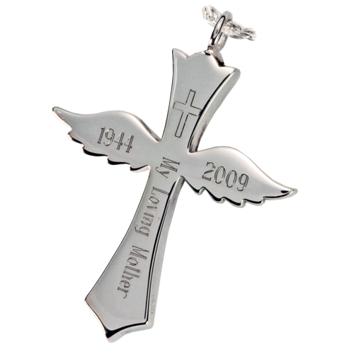 Winged Cross Pendant Cremation Jewelry-Jewelry-New Memorials-Afterlife Essentials