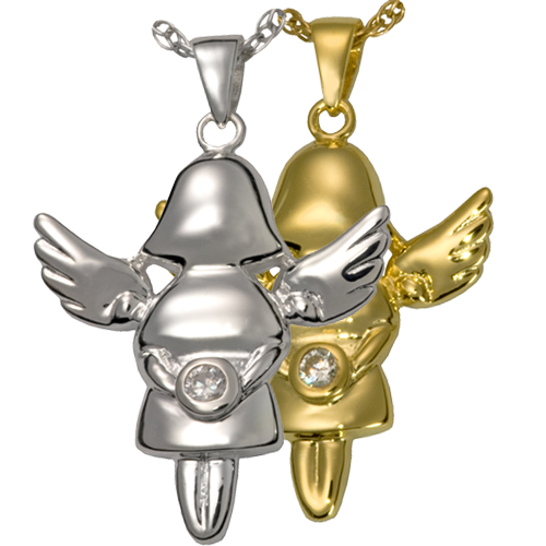 Littlest Angel Girl Cremation Jewelry-Jewelry-New Memorials-Afterlife Essentials