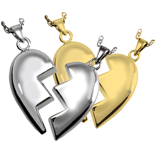 Separate Double Chamber Heart Pendant Cremation Jewelry-Jewelry-New Memorials-Afterlife Essentials