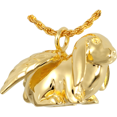 Bunny Lop Pendant Cremation Jewelry-Jewelry-New Memorials-14K Gold Plating (14K over sterling silver)-Afterlife Essentials