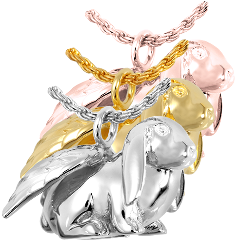 Bunny Lop Pendant Cremation Jewelry-Jewelry-New Memorials-Afterlife Essentials