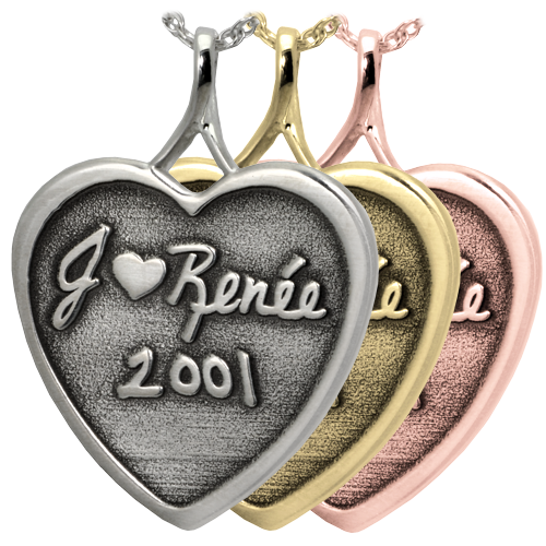 3D Handwriting Heart Memento Jewelry Cremation Jewelry-Jewelry-New Memorials-Afterlife Essentials