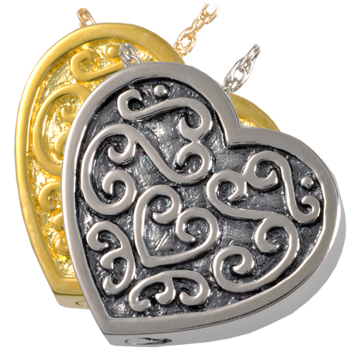 Ornate Heart Cremation Jewelry-Jewelry-New Memorials-Afterlife Essentials