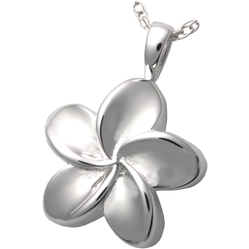 Plumeria Flower Pendant Cremation Jewelry-Jewelry-New Memorials-Afterlife Essentials