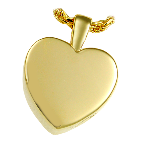 Classic Heart Small Pendant Cremation Jewelry-Jewelry-New Memorials-14K Gold Plating (14K over sterling silver)-Afterlife Essentials