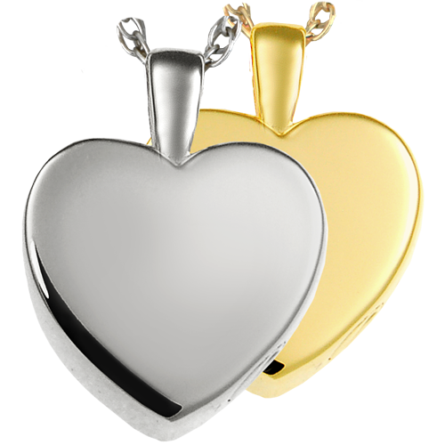 Classic Heart Small Pendant Cremation Jewelry-Jewelry-New Memorials-Afterlife Essentials