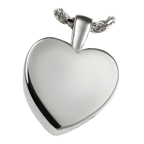 Classic Heart Small Pendant Cremation Jewelry-Jewelry-New Memorials-Sterling Silver-Afterlife Essentials